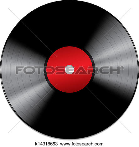Clip Art of Lp Vinyl Disc Vintage Record k13443277.