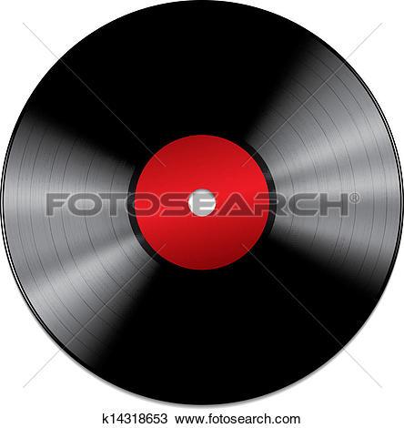 Clip Art of Lp Vinyl Disc Vintage Record k13443277.