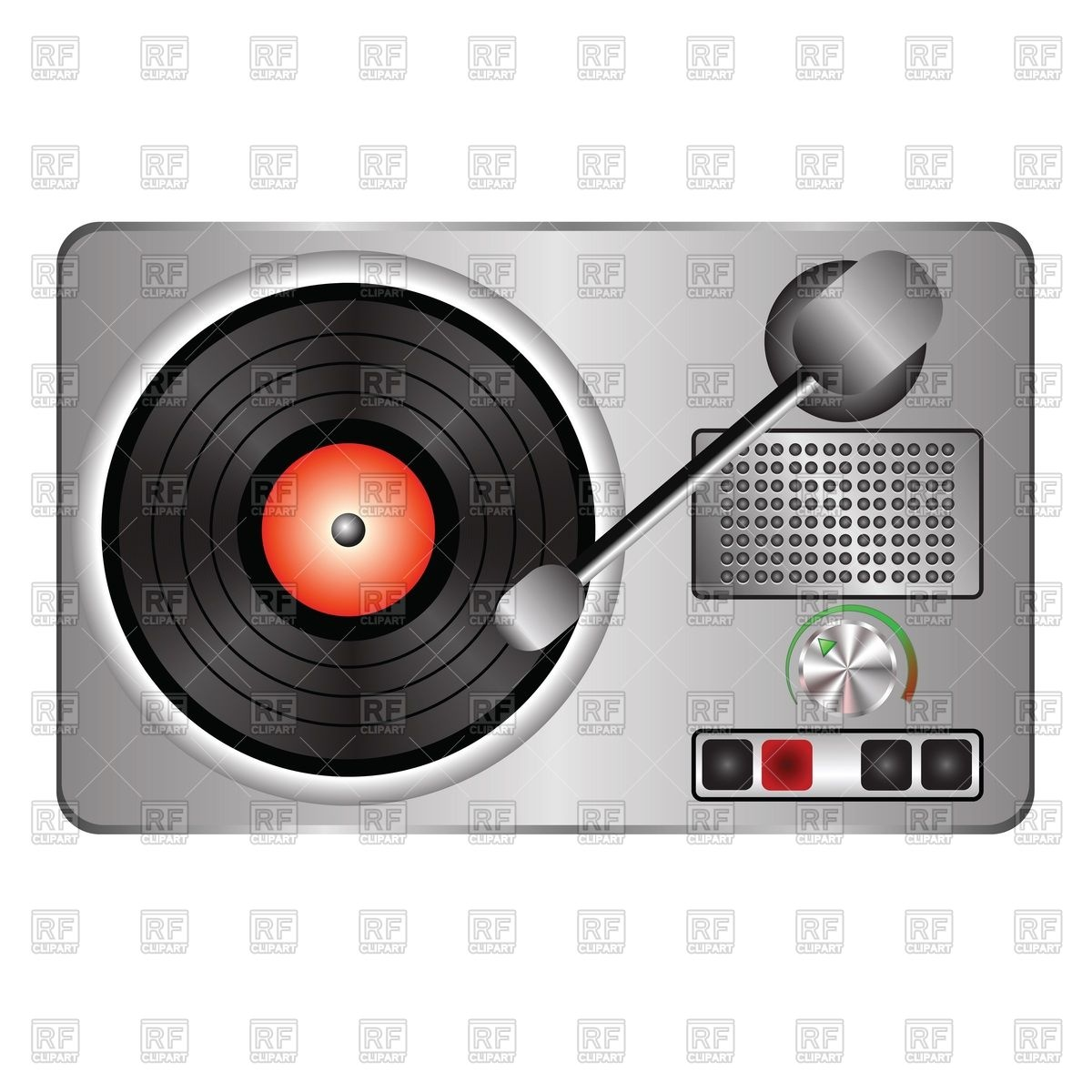 Record player with vinyl disc Vector Image #39496.
