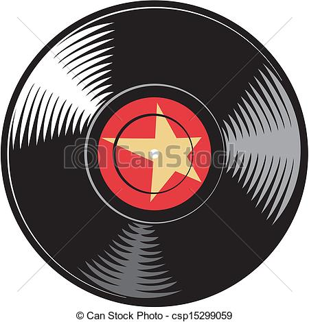 Clipart Vector of vector vinyl disc (record) csp15299059.