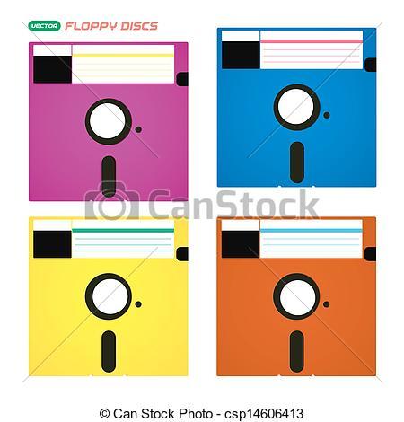 Vector Clip Art of Floppy Disks Illustrations.