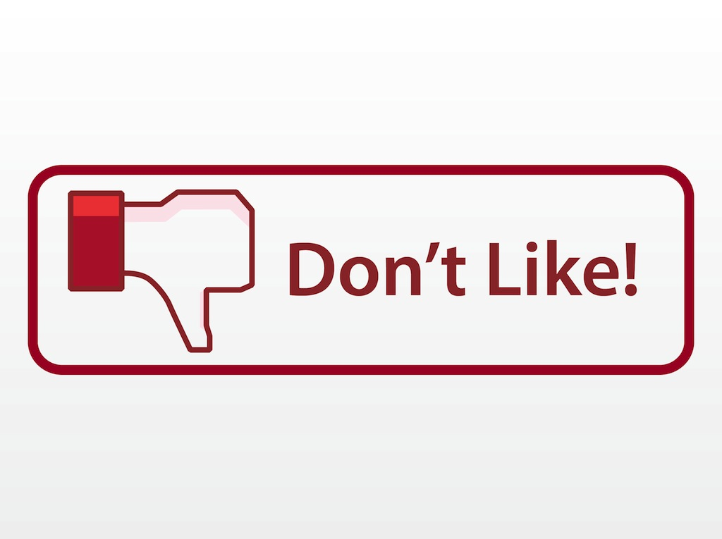 Dislike Social Media Clipart.