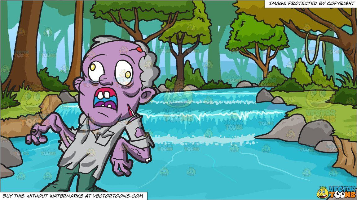 clipart #cartoon An Old Zombie With Dislocated Feet And Arms.