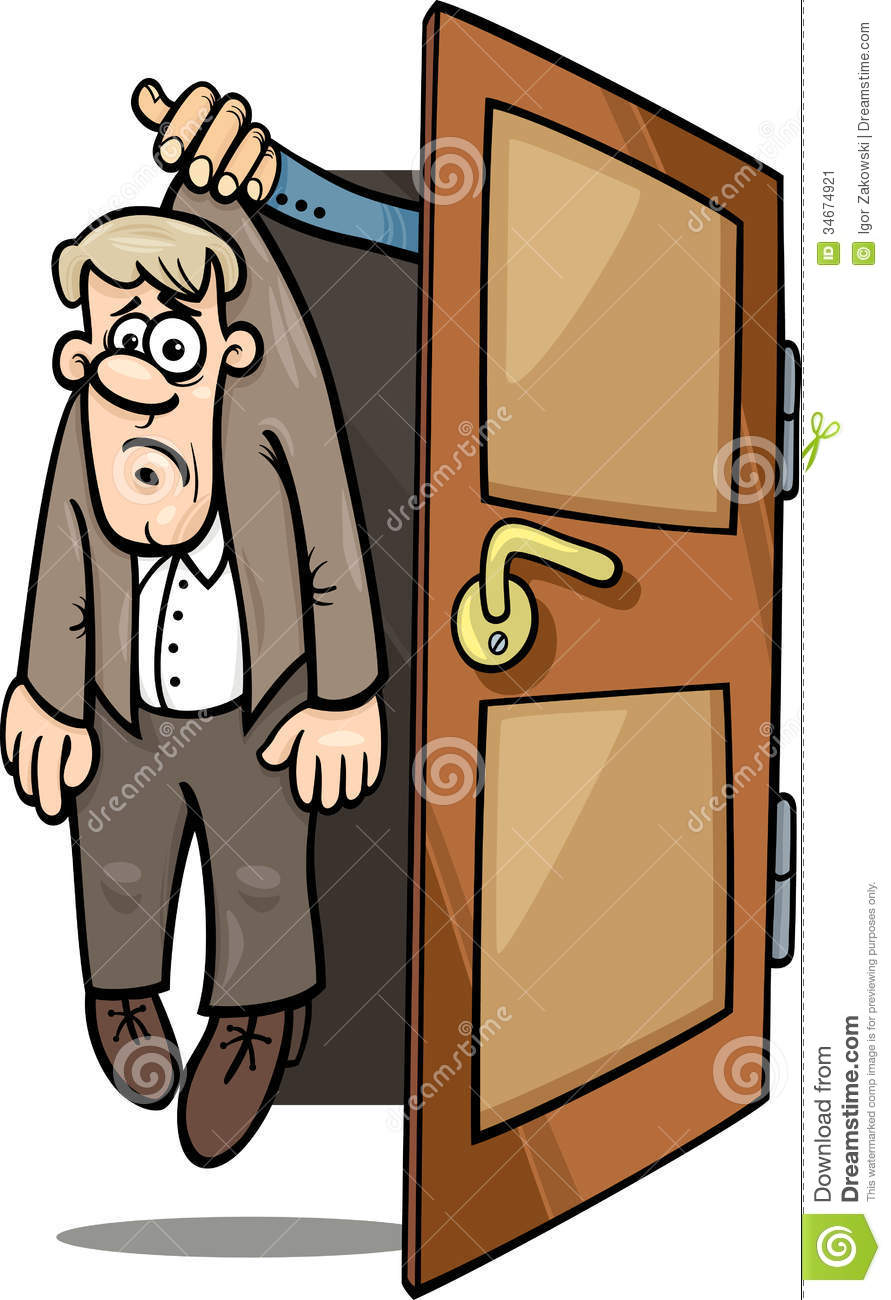 Fired Man Cartoon Illustration Stock Image.