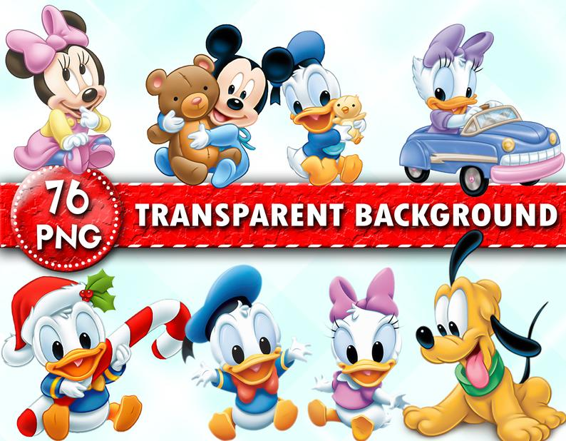 Disney Babies Clipart, Disney Baby PNG Files, Baby Mickey Minnie Character  Images, Transparent Background, Instant Download.