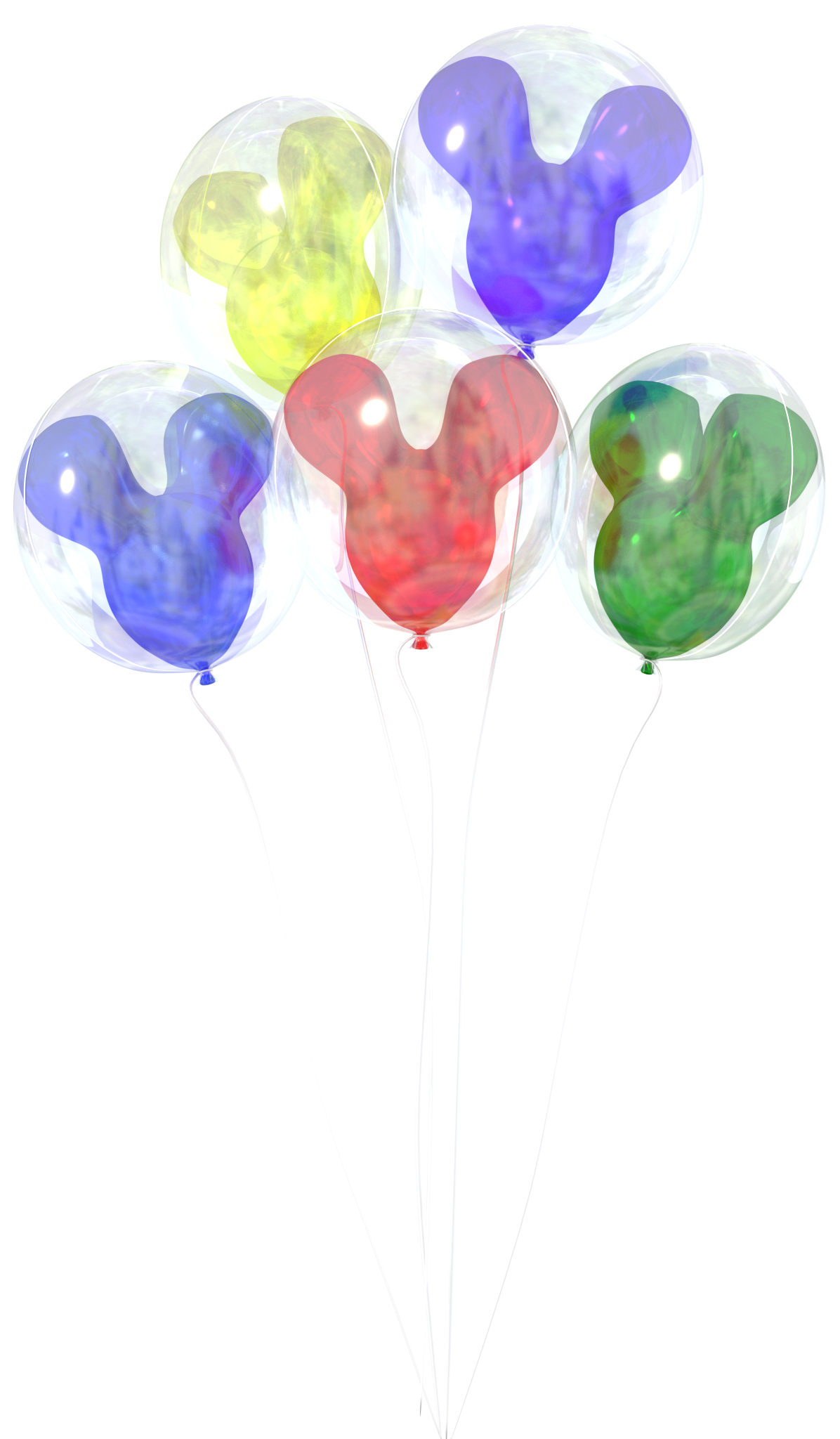 Walt Disney World Balloons Png & Free Walt Disney World Balloons.png.