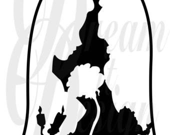 Disney Beast Silhouette Clipart