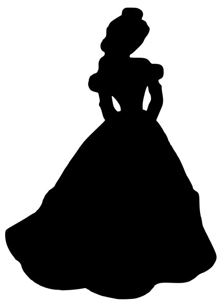 Beauty and the Beast Belle Silhouette Decal on Etsy, $5.00.