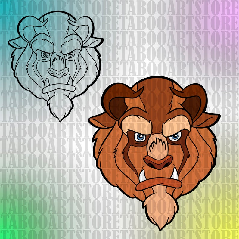 SVG Beauty and the beast svg, beauty and the beast clipart, Disney eps,  Disney beauty and the beast eps ,beauty and the beast svg.