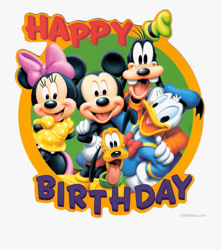 Happy Birthday With Disney Cartoon.