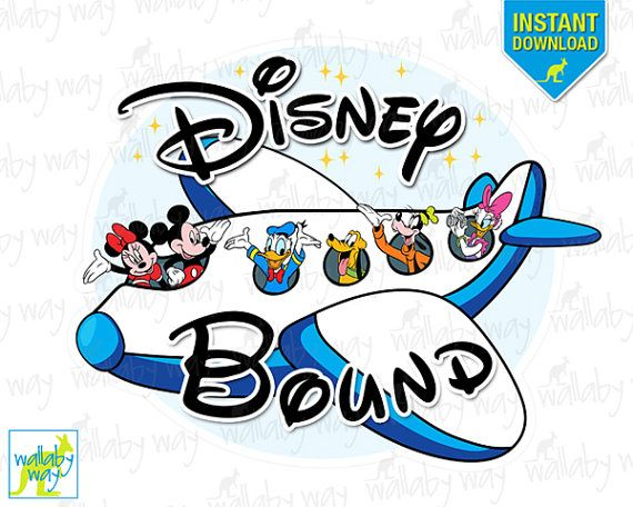 Disney Bound Mickey Airplane Printable Iron On Transfer or.