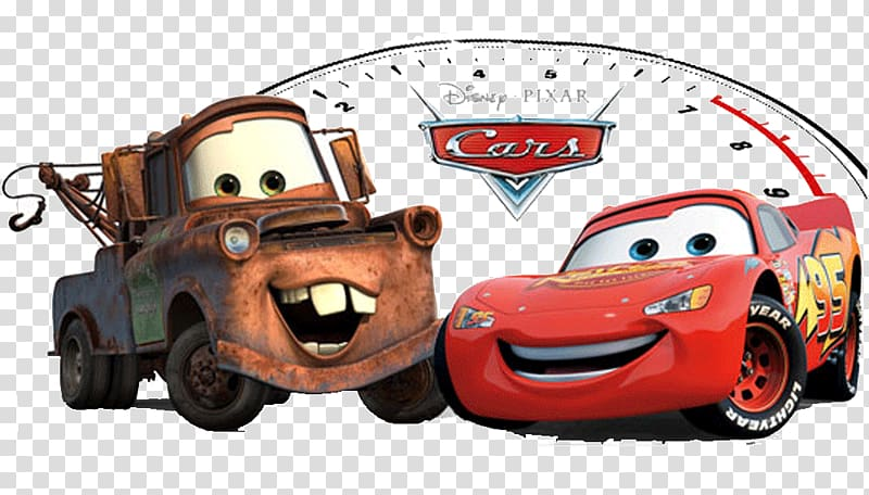 Disney Cars Lightning McQueen and Mater , Cars 2 Mater.