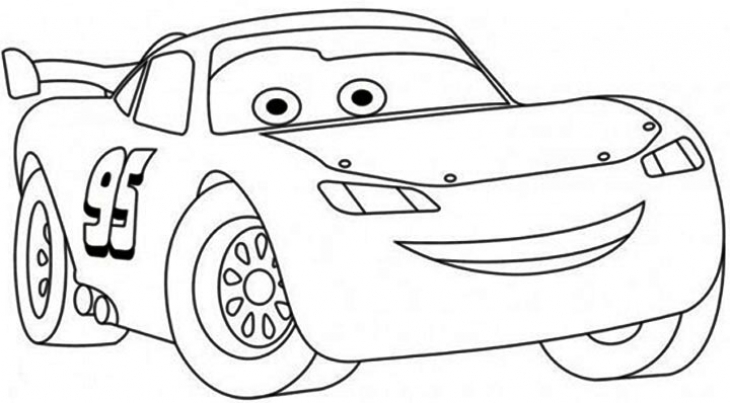 Disney Cars Clipart Black And White.