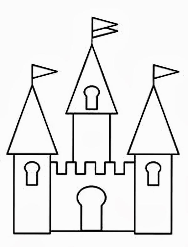 Clipart Castle Black And White.