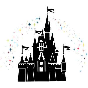 Disney Castle Black And White Clipart.