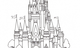 Disney World Castle Clipart Black And White.