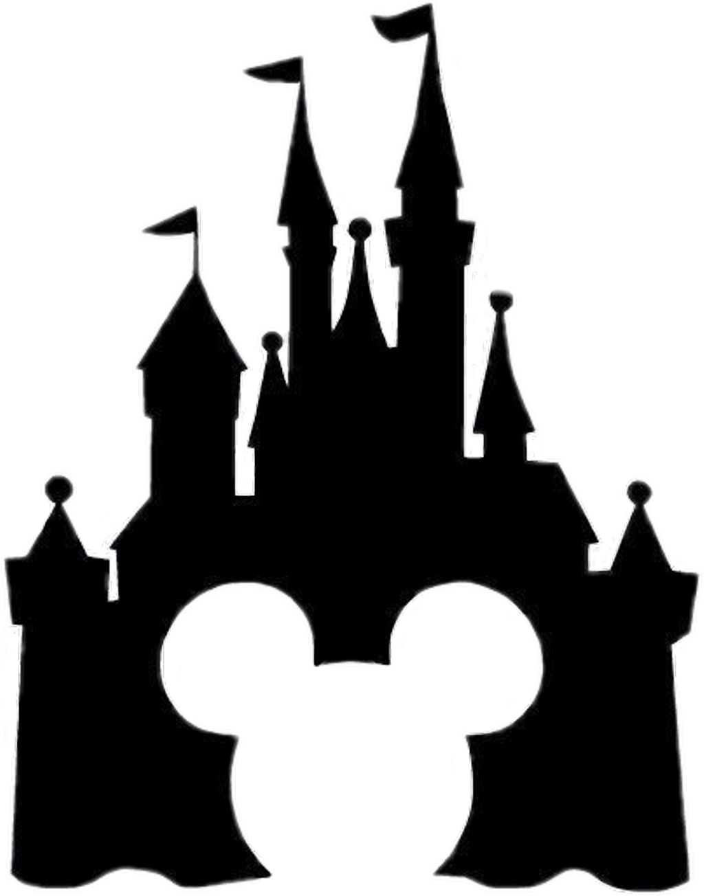 It is a photo of Slobbery Disney Silhouette Png
