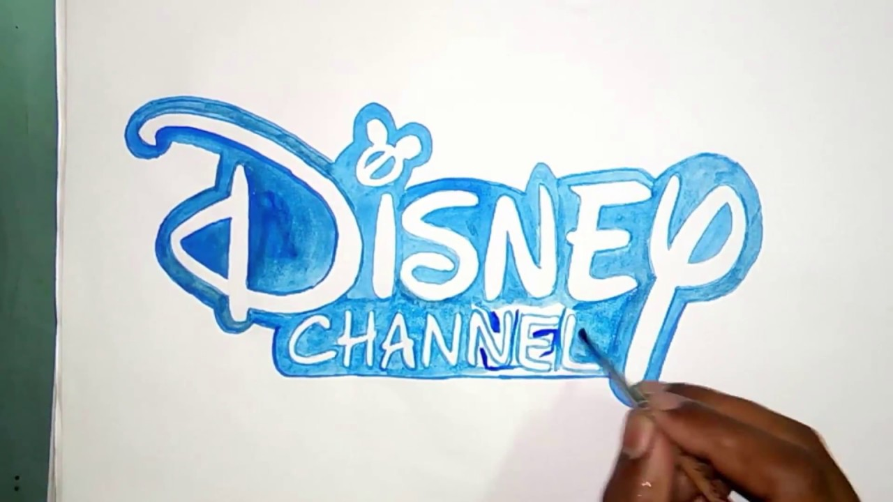 How to draw the Disney channel logo (logo drawing).