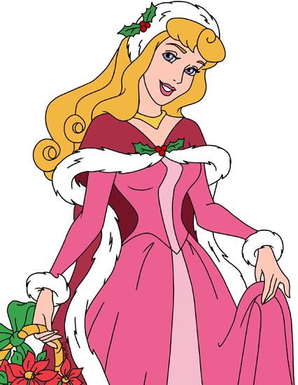 Disney Princess Christmas Clip Art.