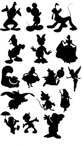 Character silhouette clipart.
