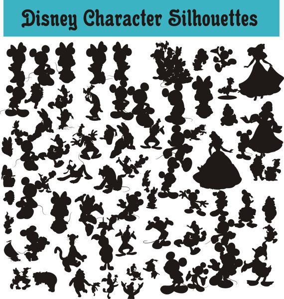 SlavGraphics Collection — Disney Character Body Silhouettes Clip Art.