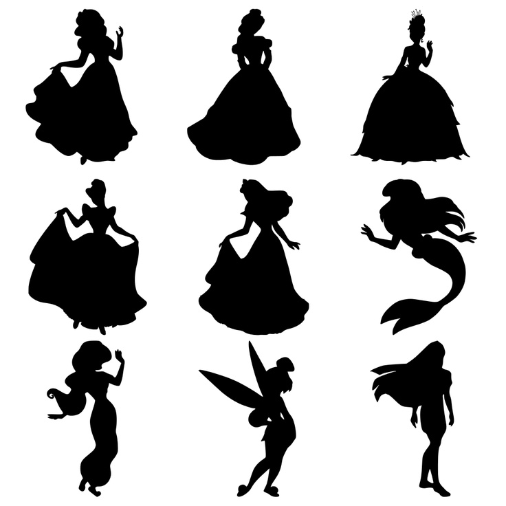Free Disney Character Silhouette, Download Free Clip Art.