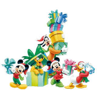 Christmas Disney Characters Clipart.