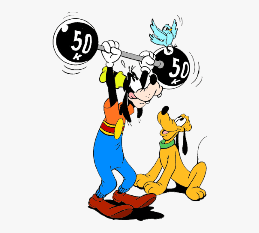 Disney Characters Lifting Weights , Free Transparent Clipart.