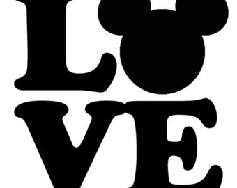 Disney Love Black And White Clipart.