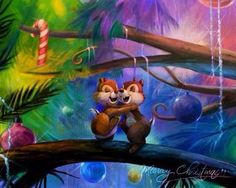 Chip and Dale Christmas.