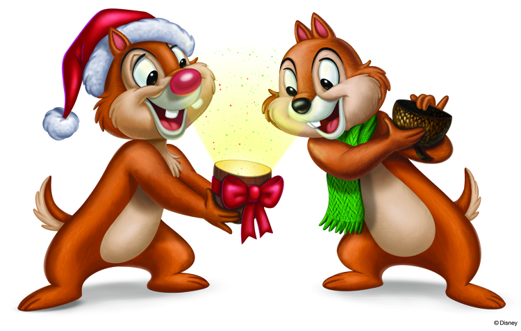 Disney Chip N Dale Christmas Clipart.