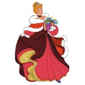 Disney Cinderella Christmas Clipart.