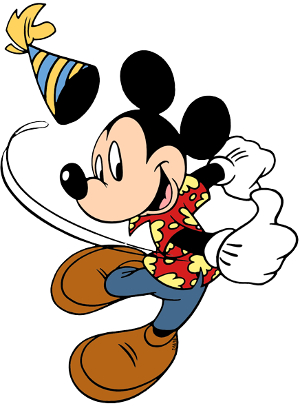 Disney Birthdays and Parties Clip Art.