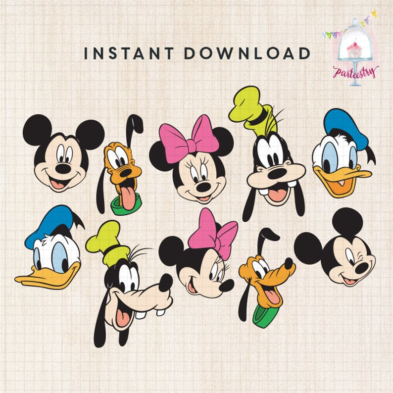 Mickey & Friends Clipart.