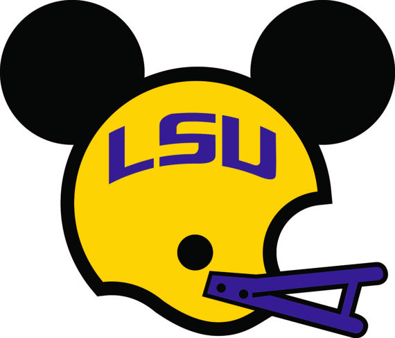 Mickey LSU iron on transfer by EllevanDesigns on Etsy.