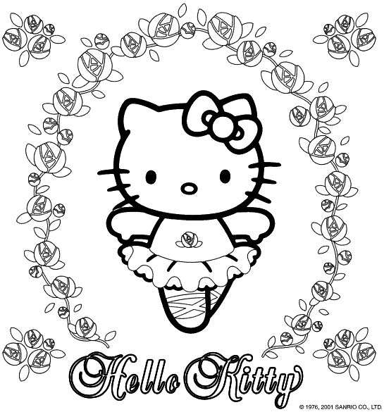 Hello Kitty Clipart For Kids To Print Out.