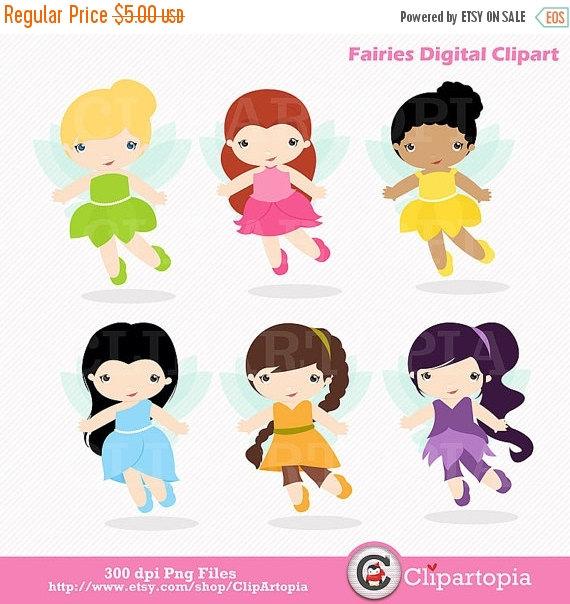 Fairies Digital ClipArt / Fairy Digital Clip art / Cute Fairies.