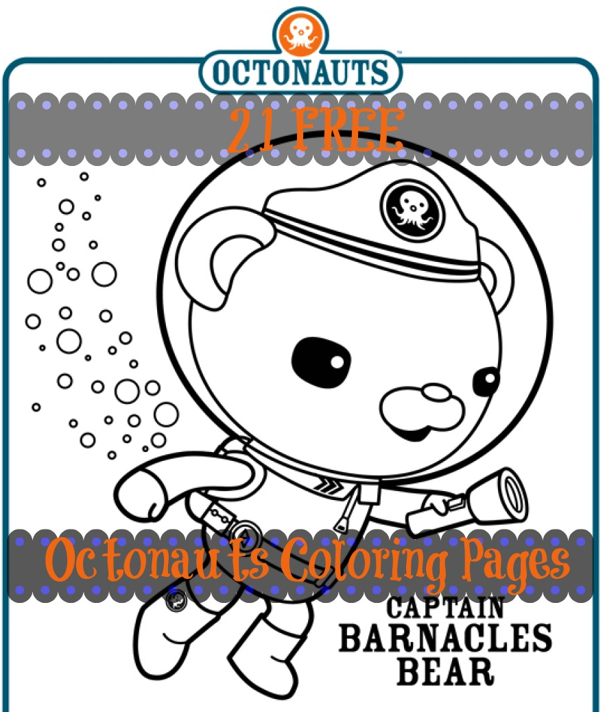 Free: 21 Disney Octonauts Coloring Pages for a Quick Summer.