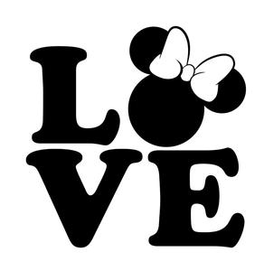 Love Disney SVG, Disney Clipart, Minnie svg, Love svg, Disney svg, Mickey  svg, PNG, Dxf, Cutting File, Silhouette Cameo, Cricut.