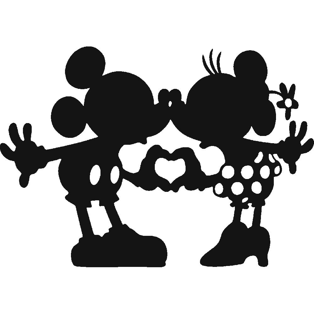 Minnie Mouse Mickey Mouse The Walt Disney Company Silhouette.