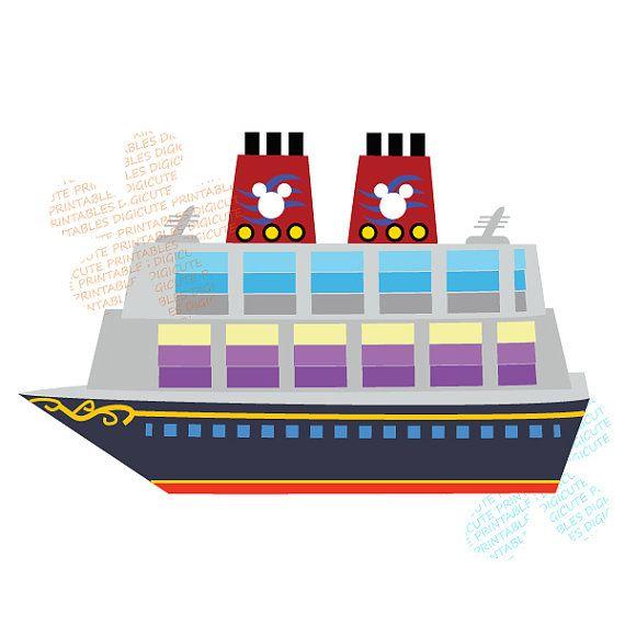 Items Similar To Disney Cruise Ship Digital Clip Art.