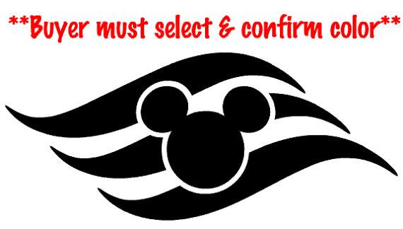 Disney Cruise Line logo vinyl decal, sticker.