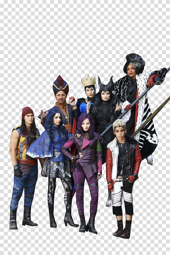 Descendants Cast, Disney villain transparent background PNG.