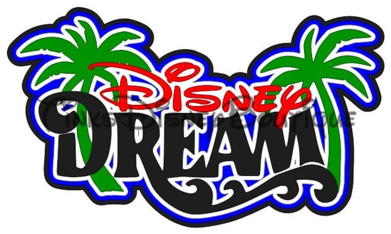 Disney SVG clipart Mickey Mouse Cruise Dream Title Scrapbook Cricut  Silhouette Cut File.