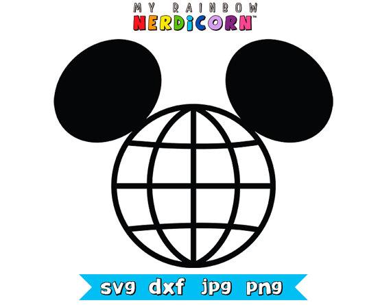 Disney Epcot Mickey ears clipart svg png jpg by MyRainbowNerdicorn.