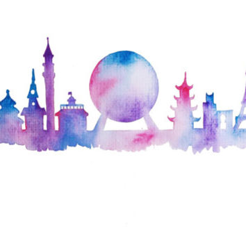 Disney Epcot Silhouette Clipart Clipground