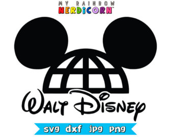 Mickey Mouse ears balloon Disney clipart by MyRainbowNerdicorn.