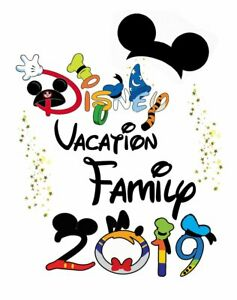 Details about ******************DISNEY FAMILY VACATION MICKEY  2019******SHIRT IRON ON TRANSFER.