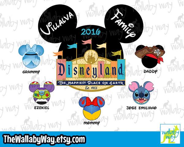 Disneyland Character Mickey Heads.