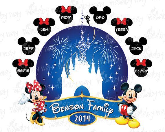 Disney Family Vacation Clipart.